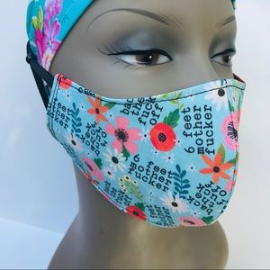 Back off 6 ft cotton face mask 3 layers reusable